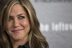 """Actress Jennifer Aniston arrives at the season premiere of HBO's """"The Leftovers"""" in New York June 23, 2014. REUTERS/Andrew Kelly"""
