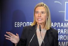 Chefe de política externa da UE, Federica Mogherini, concede entrevista coletiva no Parlamento Europeu, em Bruxelas. 02/09/2014 REUTERS/Laurent Dubrule