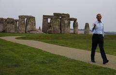U.S. President Barack Obama visits Stonehenge in Wiltshire September 5, 2014. REUTERS/Larry Downing