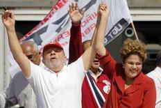 Lula e Dilma durante comício em São Bernardo do Campo, em 2 de setembro.  REUTERS/Paulo Whitaker