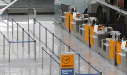 Les pilotes de Lufthansa, en grève mercredi pour la troisième fois en quelques semaines, se disent prêts à poursuivre leur mouvement si la nouvelle offre de la compagnie concernant leur régime de préretraite ne les satisfait pas. En raison de l'arrêt de travail,à l'aéroport de Munich, la compagnie aérienne allemande a annulé 140 vols court et moyen-courriers. /Photo prise le 10 septembre 2014/REUTERS/Michaela Rehle