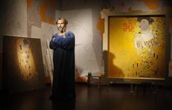 Imagem de cera do artista austríaco Gustav Klimt exibido no museu Madam Tussauds, em Viena. 20/3/2012 REUTERS/Herwig Prammer