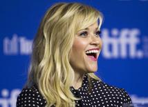 "Actress Reese Witherspoon attends a news conference to promote the film ""The Good Lie"" at the Toronto International Film Festival (TIFF) in Toronto, September 8, 2014.    REUTERS/Fred Thornhill"