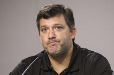 NASCAR Sprint Cup Series driver Tony Stewart during a press conference at Atlanta Motor Speedway in Hampton, Georgia August 29, 2014.  REUTERS/Kevin Liles/USA TODAY Sports/Files