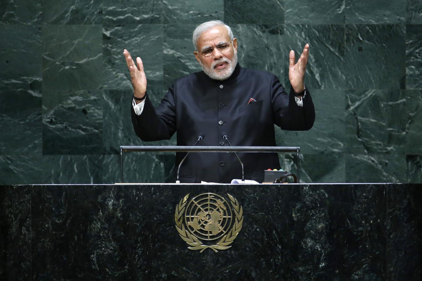 Image result for pics of modi at the UN