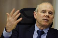Ministro da Fazenda, Guido Mantega, fala durante entrevista à Reuters, em Brasília. 5/8/2014 REUTERS/Ueslei Marcelino