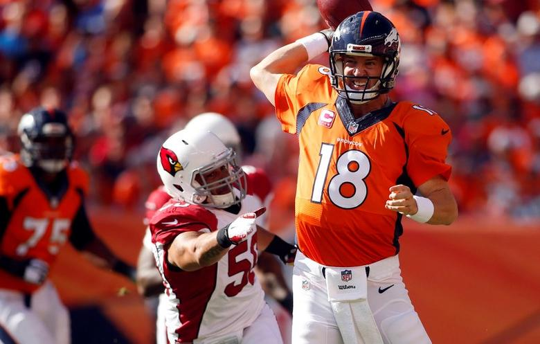 promo code bf5ee ddcf7 Broncos' Manning throws 500th touchdown pass   Reuters.com