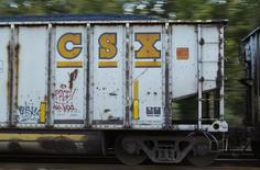 A CSX gondola car full of coal moves through the switchyard in Brunswick, Maryland October 16, 2012. REUTERS/Gary Cameron