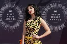 Charli XCX arrives at the 2014 MTV Music Video Awards in Inglewood, California August 24, 2014. REUTERS/Kevork Djansezian