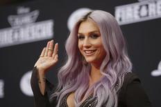 """Cantora Kesha na première de """"Aviões"""" em cinema de Hollywood. 15/07/2014 REUTERS/David McNew"""