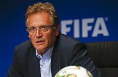 Valcke participa de entrevista em Zurique em 26 de setembro.  Reuters/Arnd Wiegmann