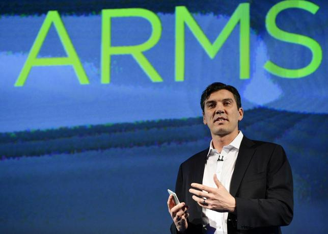 AOL Chairman and CEO Tim Armstrong speaks during the launch of the HTC One smartphone in London, in this file photo taken February 19, 2013.   REUTERS/Toby Melville/Files