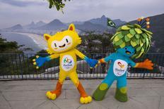 Mascotes dos Jogos Olímpicos e Paralímpicos de 2016, no Rio de Janeiro, em foto de divulgação. REUTERS/Alex Ferro/Comitê Rio 2016/Divulgação via Reuters