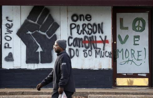 Ferguson's plywood murals
