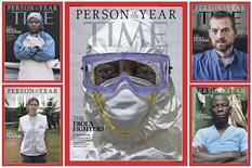 The covers of the December 10, 2014 issue of TIME magazine is shown in this handout photo provided by Time December 10, 2014. REUTERS/TIME/Handout via Reuters