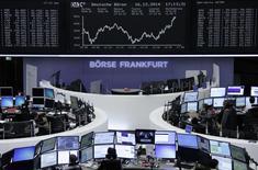 Bolsa de Frankfurt. REUTERS/Remote/Stringer   (GERMANY - Tags: BUSINESS)