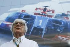 Bernie Ecclestone arrives for the drivers' parade in Sochi October 12, 2014. REUTERS/Maxim Shemetov