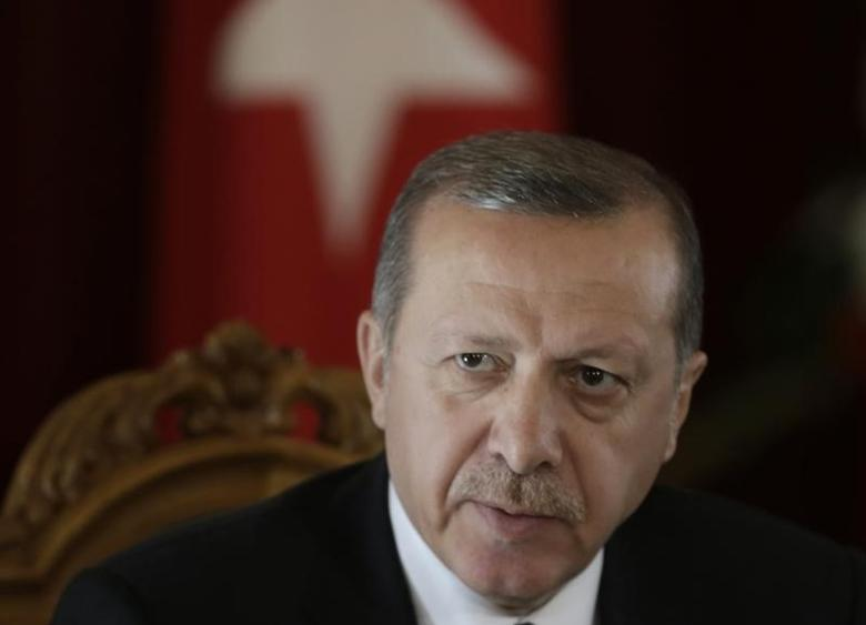Turkey's President Recep Tayyip Erdogan speaks during a news conference in Riga October 23, 2014. REUTERS/Ints Kalnins