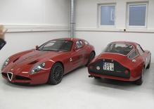 Alfa Romeo TZ 3 Corsa (L) and Alfa Romeo Giulia TZ are seen in a barn of collector Martin Kapp in Coburg, December 19, 2014.REUTERS/Edward Taylor