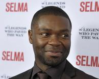 """Cast member David Oyelowo, who plays the role of civil rights leader Dr Martin Luther King, arrives during a gala event for the film """"Selma"""" in Goleta, California in a December 6, 2014 file photo.  REUTERS/Phil Klein/files"""