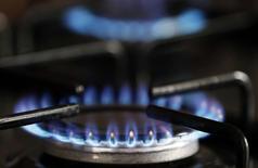 GdF Suez, est l'une des valeurs à suivre à la Bourse de Paris, sur fond d'informations de presse faisant état d'un recul des tarifs réglementés du gaz d'un peu plus de 1% en février sous l'effet notamment du recul des cours du pétrole. /Photo d'archives/REUTERS/Régis Duvignau