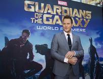 """Ator Chris Pratt chega à pré-estreia mundial de """"Guardiões da Galáxia"""" em Hollywood em julho do ano passado. 21/07/2014 REUTERS/Mario Anzuoni"""