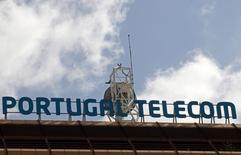 Antena na cobertura do prédio da Portugal Telecom em Lisboa. 28/02/2013 REUTERS/José Manuel Ribeiro