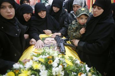 Funeral for Hezbollah members