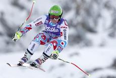 France's Marion Rolland skis during the second training session for the Women's World Cup Downhill skiing race in Val d'Isere, French Alps, December 19, 2014. REUTERS/Christian Hartmann