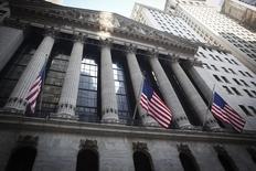 Wall Street sera sans doute à l'heure de la Réserve fédérale la semaine prochaine, surtout après les importantes annonces faites par la Banque centrale européenne (BCE) quant à son programme de rachats d'obligations d'Etat qui lui permettra d'injecter des centaines de milliards d'euros dans le système financier de la zone euro pour tenter de relancer le crédit et l'économie. /Photo prise le 4 août 2014/REUTERS/Carlo Allegri