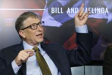 Bill Gates gestures during a debate on the 2030 Sustainable Development Goals in Brussels January 22, 2015.        REUTERS/Francois Lenoir
