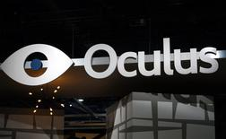The sign outside the Oculus VR booth is seen at the International Consumer Electronics show (CES) in Las Vegas, Nevada January 6, 2015. REUTERS/Rick Wilking