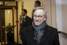"Direcor Steven Spielberg arrives for a meeting the ""Past is Present Survivor Gathering"" in Krakow January 26, 2015.  REUTERS/Lukasz Krajewski/Agencja Gazeta"