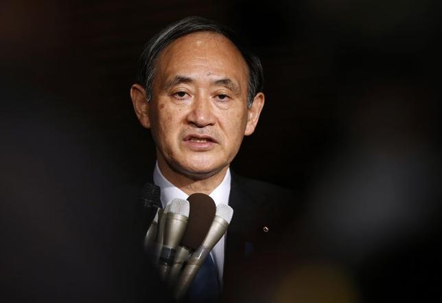 2月1日、菅義偉官房長官は、臨時会見し、イスラム国に拘束されている後藤健二さんが殺害されたとみられる画像がインターネット上に投稿されたことに対し、卑劣なテロ行為であり、断固として非難すると述べた。写真は先月28日撮影(2015年 ロイター/Toru Hanai)