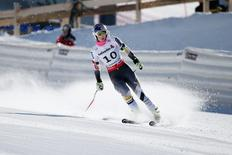 Feb 2, 2015; Beaver Creek, CO, USA; Lindsey Vonn of the United States during training for the women's downhill in the FIS alpine skiing world championships at Raptor Racecourse. Jeff Swinger-USA TODAY Sports