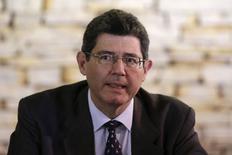 O ministro da Fazenda, Joaquim Levy, durante primeira reunião ministerial em Brasília, na semana passada. 27/01/2015 REUTERS/Ueslei Marcelino