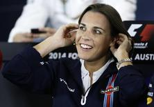 Williams Formula One deputy team principal Claire Williams attends a news conference after the second practice session of the Australian F1 Grand Prix in Melbourne in this file photo taken on March 14, 2014. REUTERS/Brandon Malone