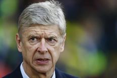 Técnico do Arsenal, Arsene Wenger, em partida da equipe. 01/01/2015 REUTERS/Andrew Winning