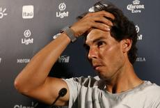 Tenista espanhol Rafael Nadal concede entrevista no Rio de Janeiro. 13/02/2015.  REUTERS/Stringer