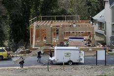 Homes are seen under construction in the northwest area of Portland, Oregon March 20, 2014. REUTERS/Steve Dipaola