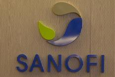 French drugs firm Sanofi's logo is pictured inside the company's headquarters during the company's 2014 annual results presentation in Paris February 5, 2015.   REUTERS/Charles Platiau