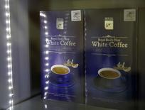Bird's nest coffee is pictured for sale at an outlet at Kuala Lumpur International Airport 2, outside Kuala Lumpur, February 18, 2015. REUTERS/Olivia Harris