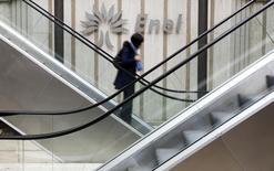 Le gouvernement italien a lancé la vente d'une participation de 5,74% dans la compagnie électrique Enel. /Photo prise le 11 novembre 2014/REUTERS/Tony Gentile