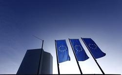 Decidido a mantener un perfil bajo sobre la crisis griega, el Banco Central Europeo se centrará en unas perspectivas de crecimiento mejoradas en su reunión del jueves y desvelará algunos detalles, pero no todos, del programa de recompra de deuda de más de un billón de euros.  En la imagen, la nueva sede del BCE en Francfort el pasado 21 de enero. REUTERS/Kai Pfaffenbach