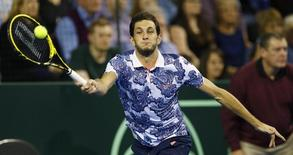 Tennis - Great Britain v United States of America - Davis Cup World Group First Round - Emirates Arena, Glasgow, Scotland - 6/3/15 Great Britain's James Ward  in action Action Images via Reuters / Andrew Boyers Livepic