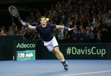 Tennis - Great Britain v United States of America - Davis Cup World Group First Round - Emirates Arena, Glasgow, Scotland - 8/3/15. Great Britain's Andy Murray in action. Action Images via Reuters / Andrew Boyers Livepic
