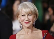 Actress Helen Mirren arrives at the 72nd Golden Globe Awards in Beverly Hills, California in this January 11, 2015 file photo. REUTERS/Danny Moloshok/Files