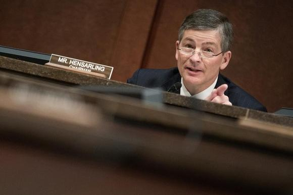 Chairman of the House Financial Services Committee Jeb Hensarling (R-TX) questions Housing and Urban Development (HUD) Secretary Julian Castro during a hearing on ''Oversight of the Federal Housing Administration'', on Capitol Hill in Washington February 11, 2015.      REUTERS/Joshua Roberts