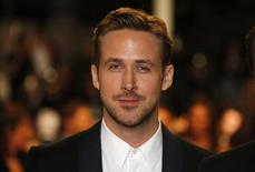 """Director Ryan Gosling poses on the red carpet as he arrives for the screening of the film """"Lost River"""" in competition for the category """"Un Certain Regard"""" at the 67th Cannes Film Festival in Cannes May 20, 2014.            REUTERS/Eric Gaillard"""