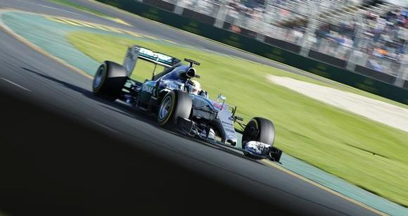 Mercedes Formula One driver Lewis Hamilton of Britain drives during the second practice session of the Australian F1 Grand Prix at the Albert Park circuit in Melbourne March 13, 2015.    REUTERS/Mark Dadswell